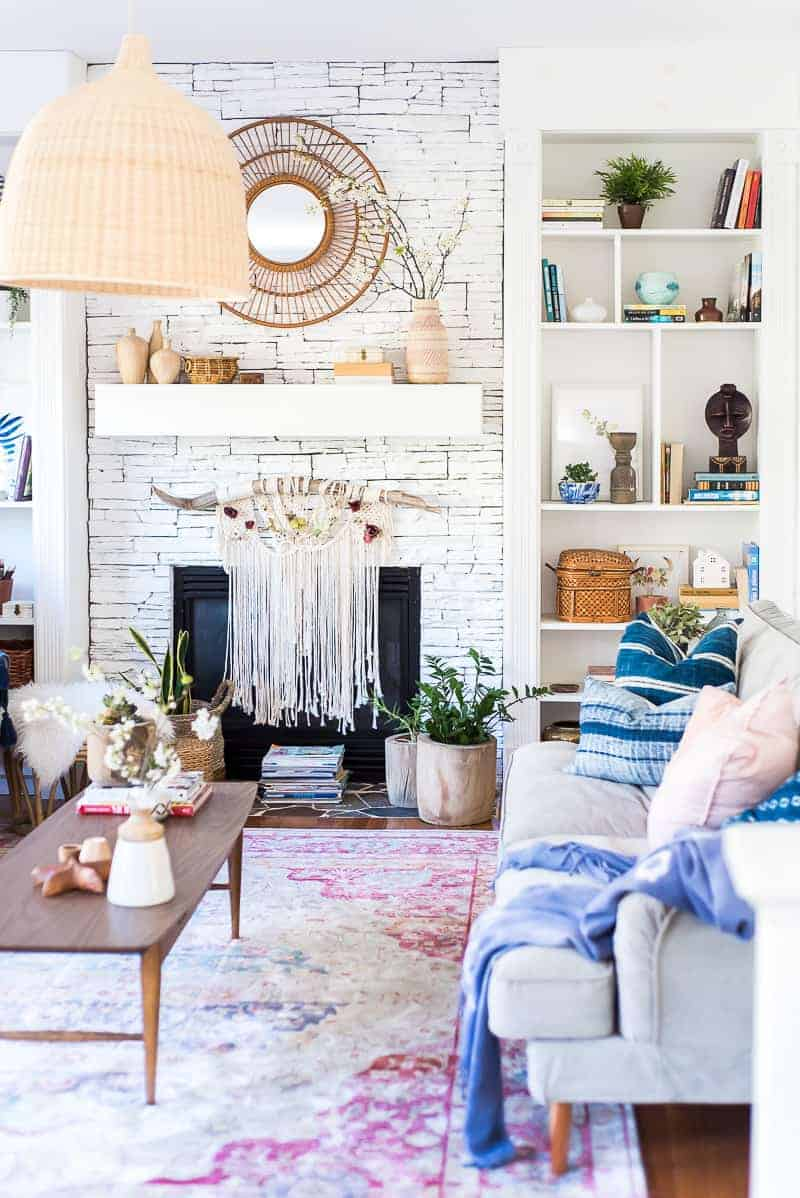 spring living room makeover