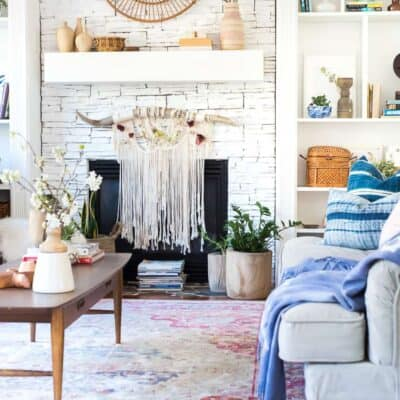 SPRING MANTEL DECOR – BOHO IT UP!