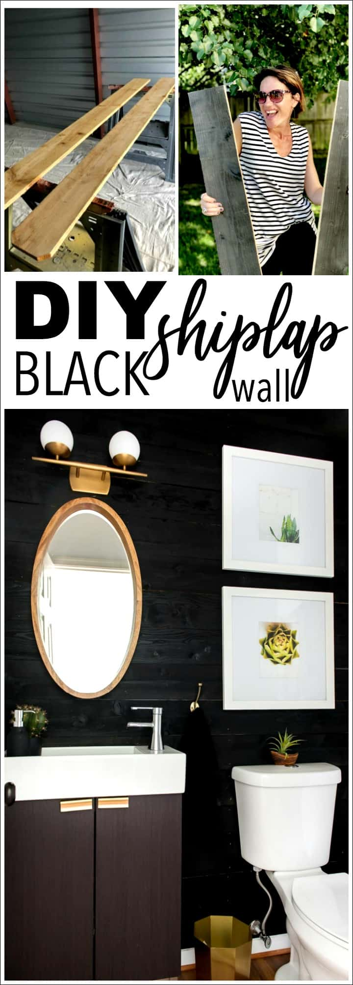DIY Black Shiplap on a dime!