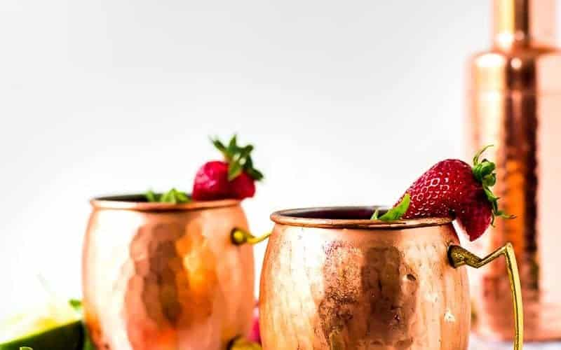 Strawberry Basil Mule Cocktail
