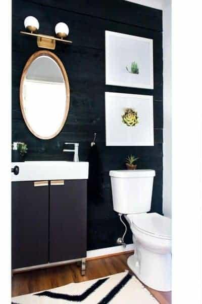 DIY BLACK SHIPLAP WALL UNDER $50