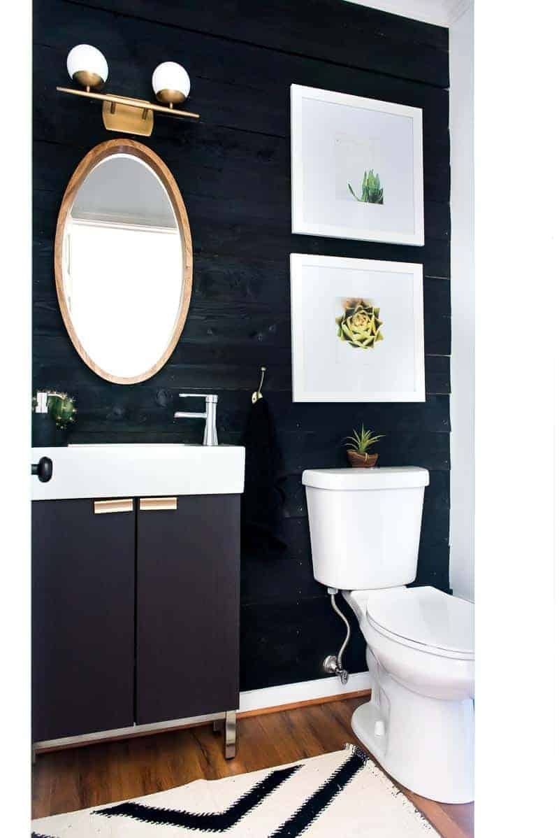 Black Shiplap Wall Under 50 Impressive Project