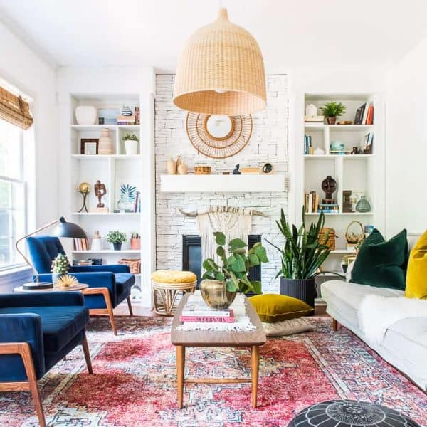 LIVING ROOM REFRESH WITH VELVET CHAIRS FROM ARTICLE