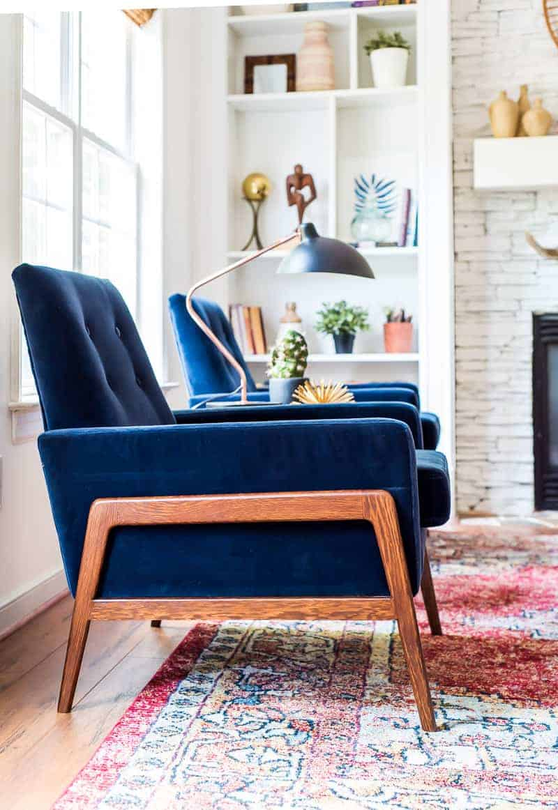 LIVING ROOM REFRESH WITH VELVET CHAIRS FROM ARTICLE - PLACE ...