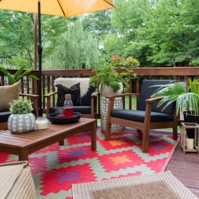 PATIO DECOR REFRESH WITH BED BATH & BEYOND