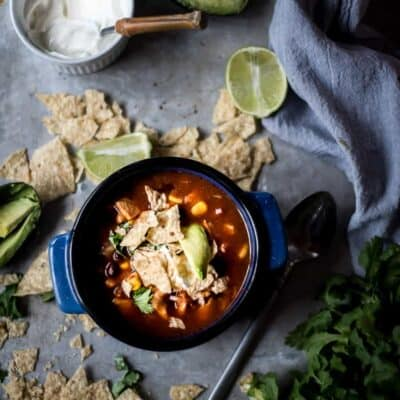 CHICKEN TORTILLA SOUP IN AN ELECTRIC PRESSURE COOKER