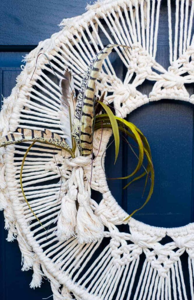 Macrame front door Wreath