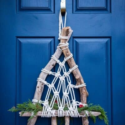 EASY DRIFTWOOD MACRAME CHRISTMAS WREATH