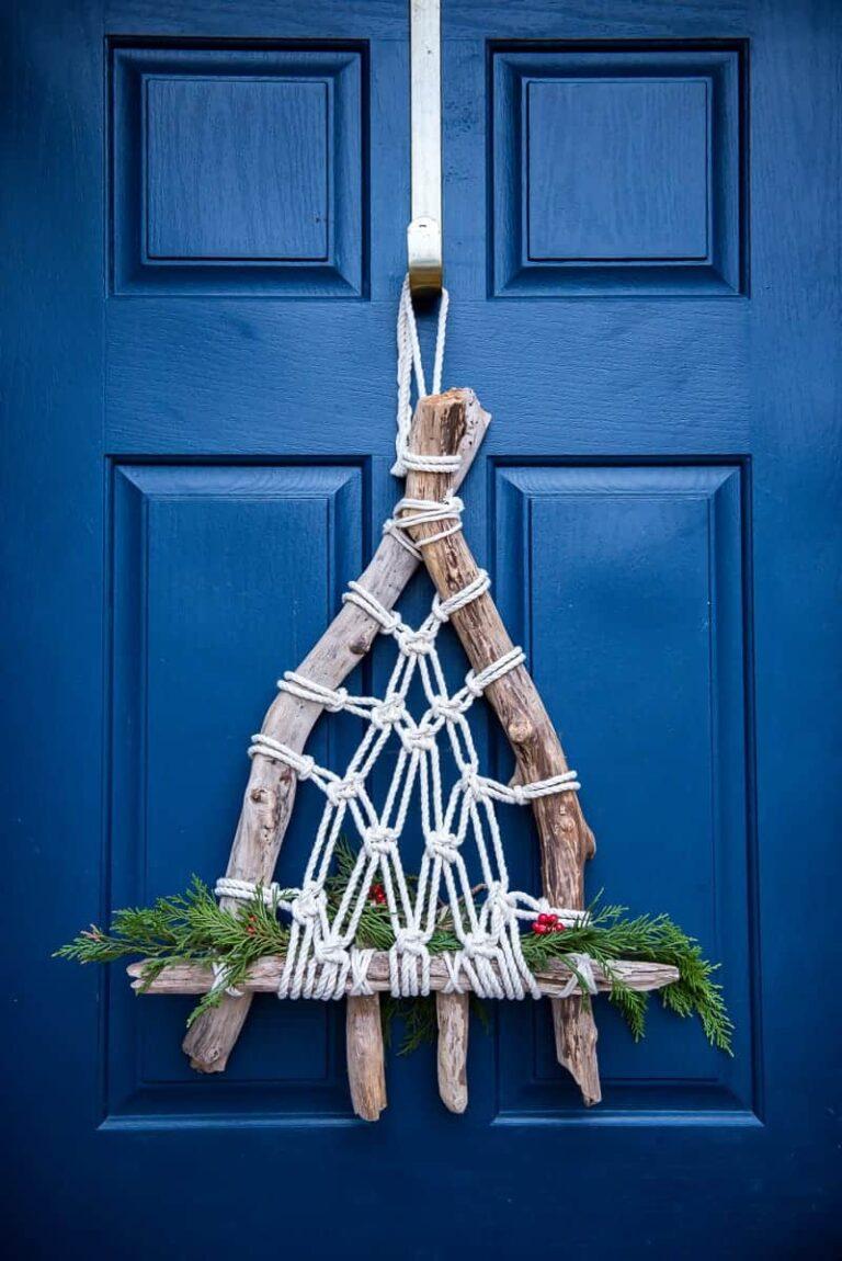 EASY DRIFTWOOD MACRAME CHRISTMAS WREATH