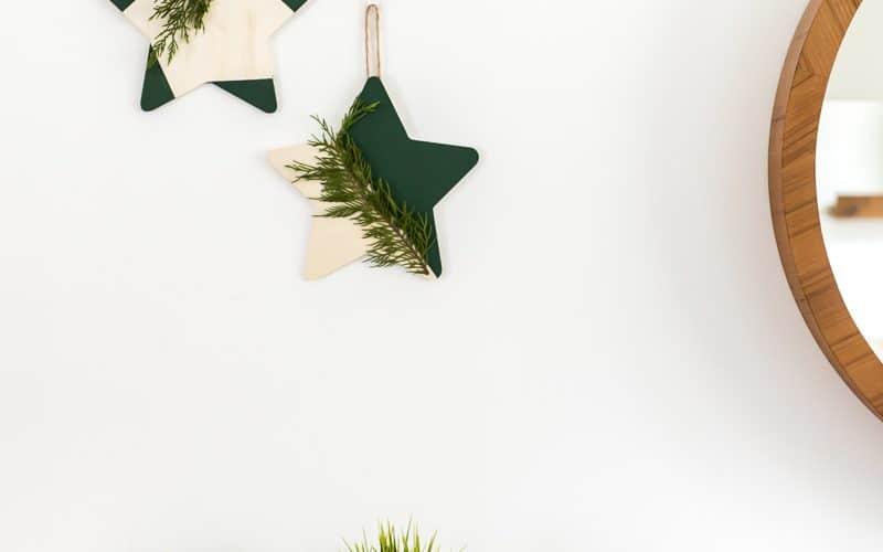 EASY DIY CHRISTMAS STAR DECORATION