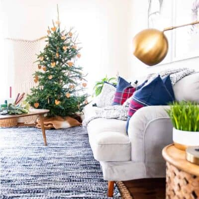 COZY LIVING ROOM FOR THE HOLIDAYS WITH IKEA
