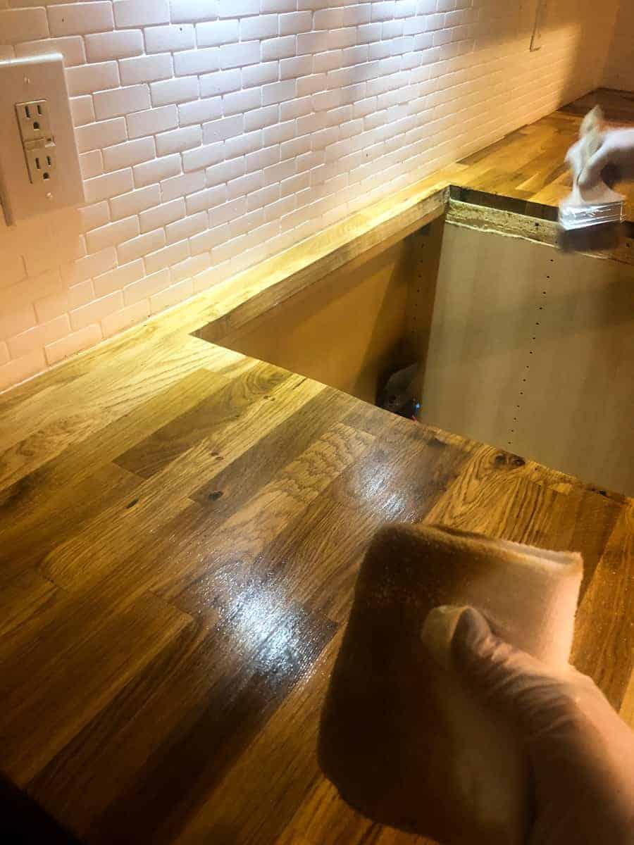 How To Seal Butcher Block Countertops!