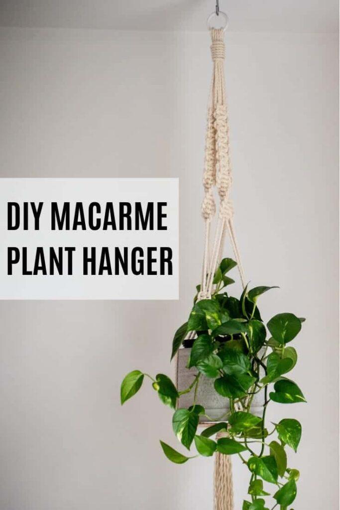 Diy Macrame Plant Hanger Place Of My Taste