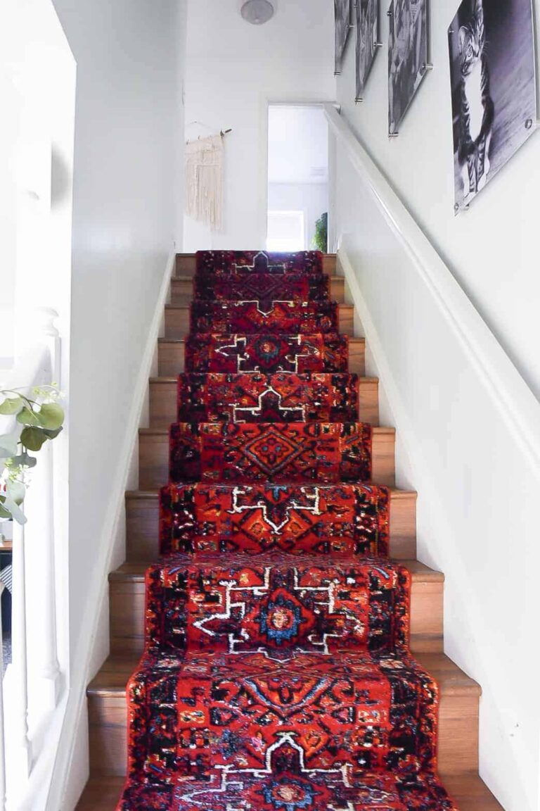 HOW TO INSTALL A STAIR RUNNER – EXTRA LONG RUNNER RUG