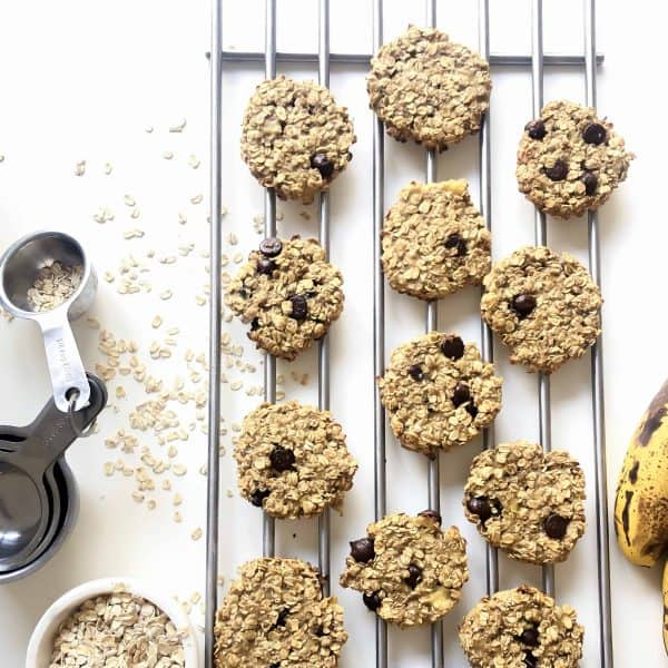 Banana Cookies with oatmeal