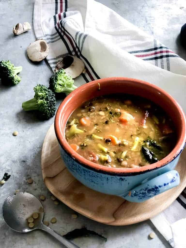 LENTIL SOUP WITH 5 HEARTY VEGETABLES