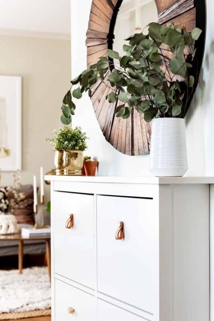 Very cool Shoe Cabinet in a super fun BOHO home.