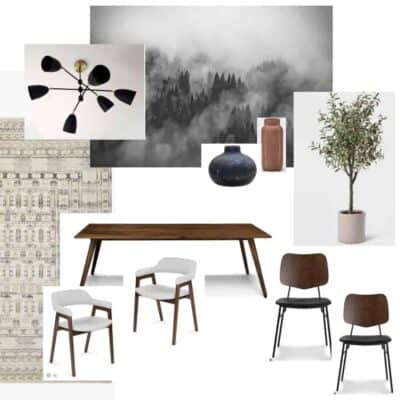 ONE ROOM CHALLENGE WEEK ONE | MODERN MOODY DINING ROOM PLANS