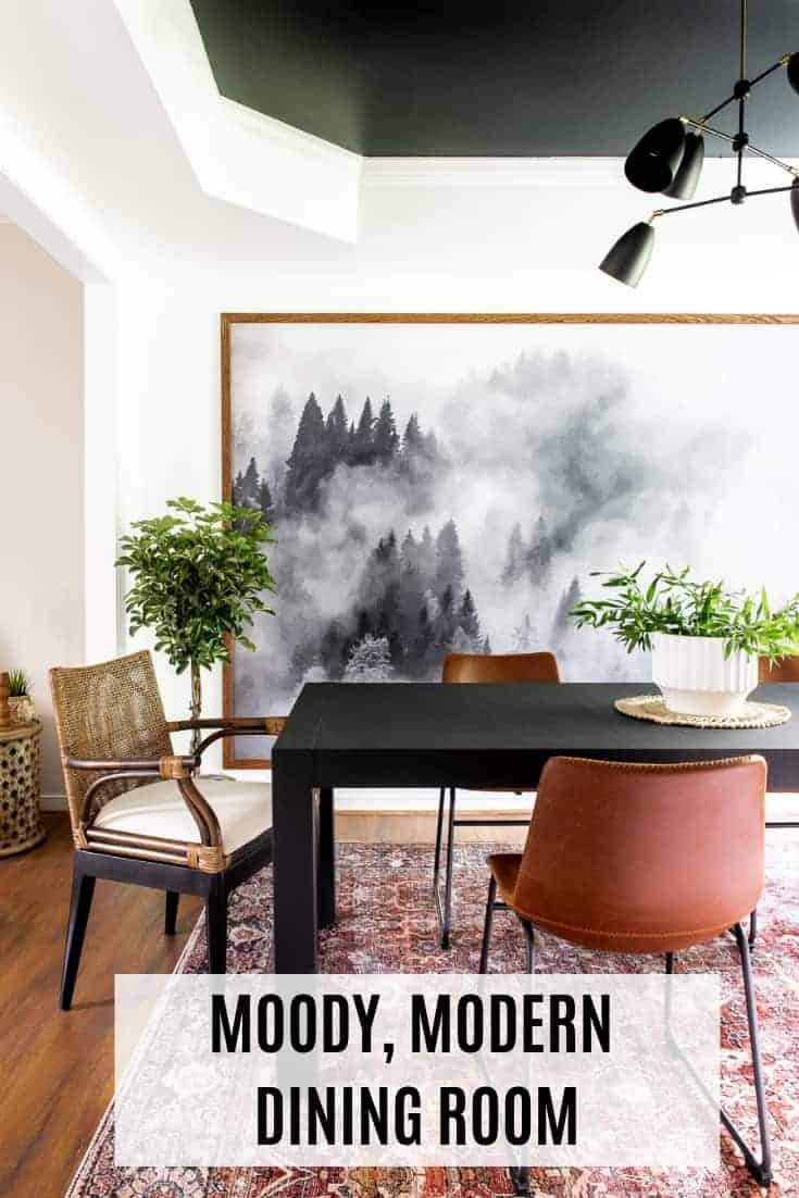 Moody Modern Dining Room. LOVE IT SO MUCH!