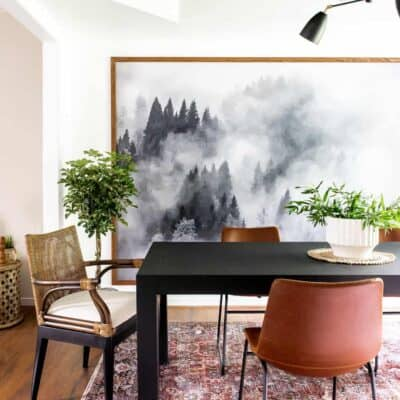 MOODY MODERN DINING ROOM REVEAL