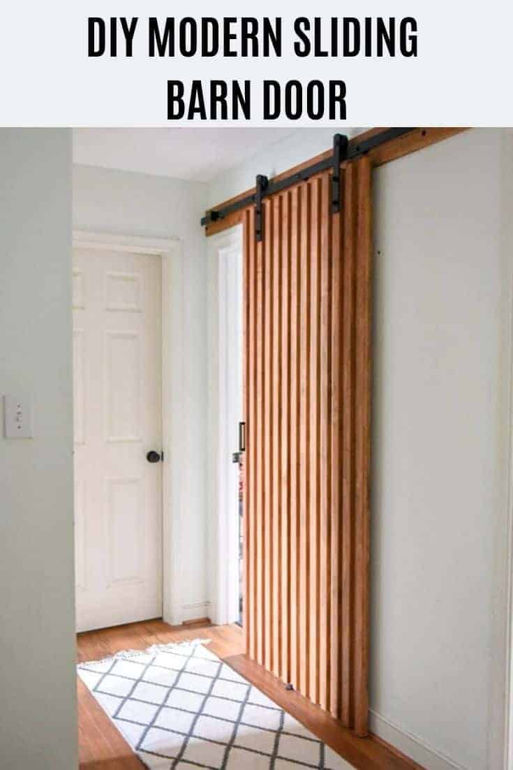 Modern sliding barn door DIY!