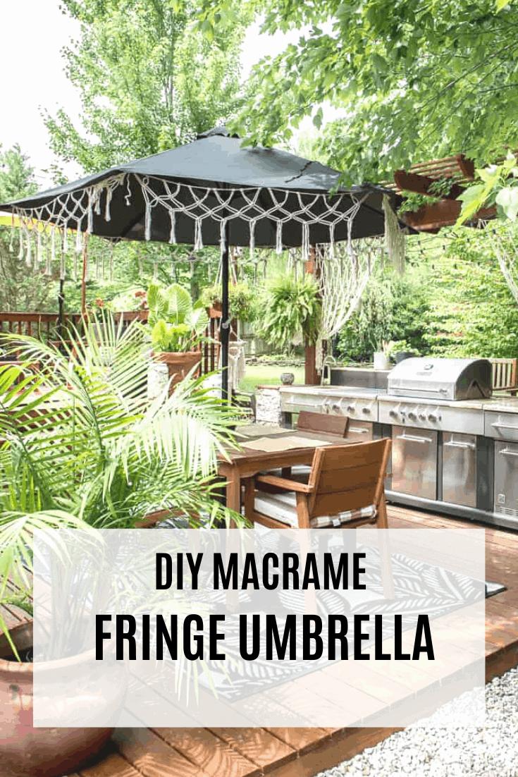 Macrame Fringe Umbrella Place Of My Taste