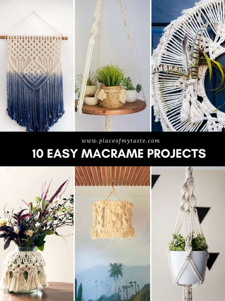 A list of DIY and easy macrame projects