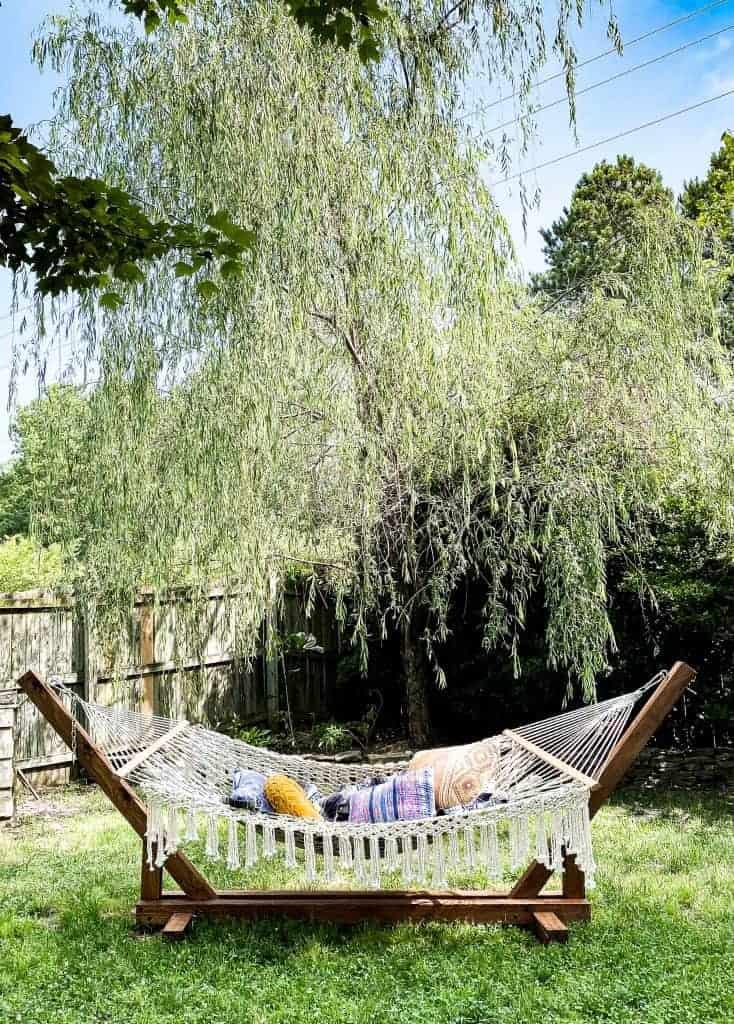 Boho DIY hammock stand