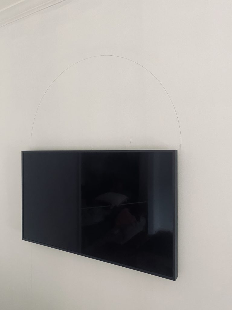 How to do a painted arch above TV