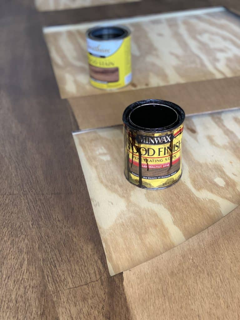 Stain color for arch headboard