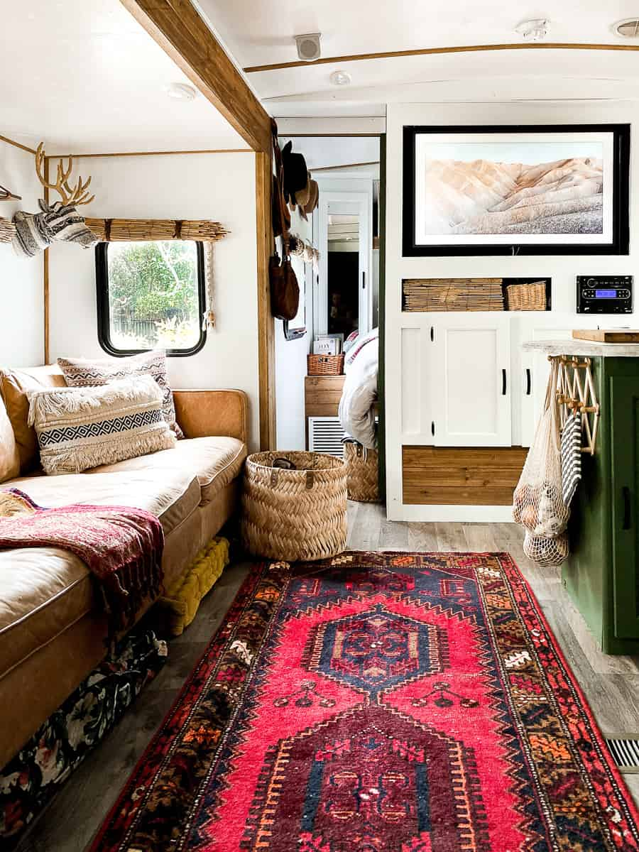 Eclectic travel trailer