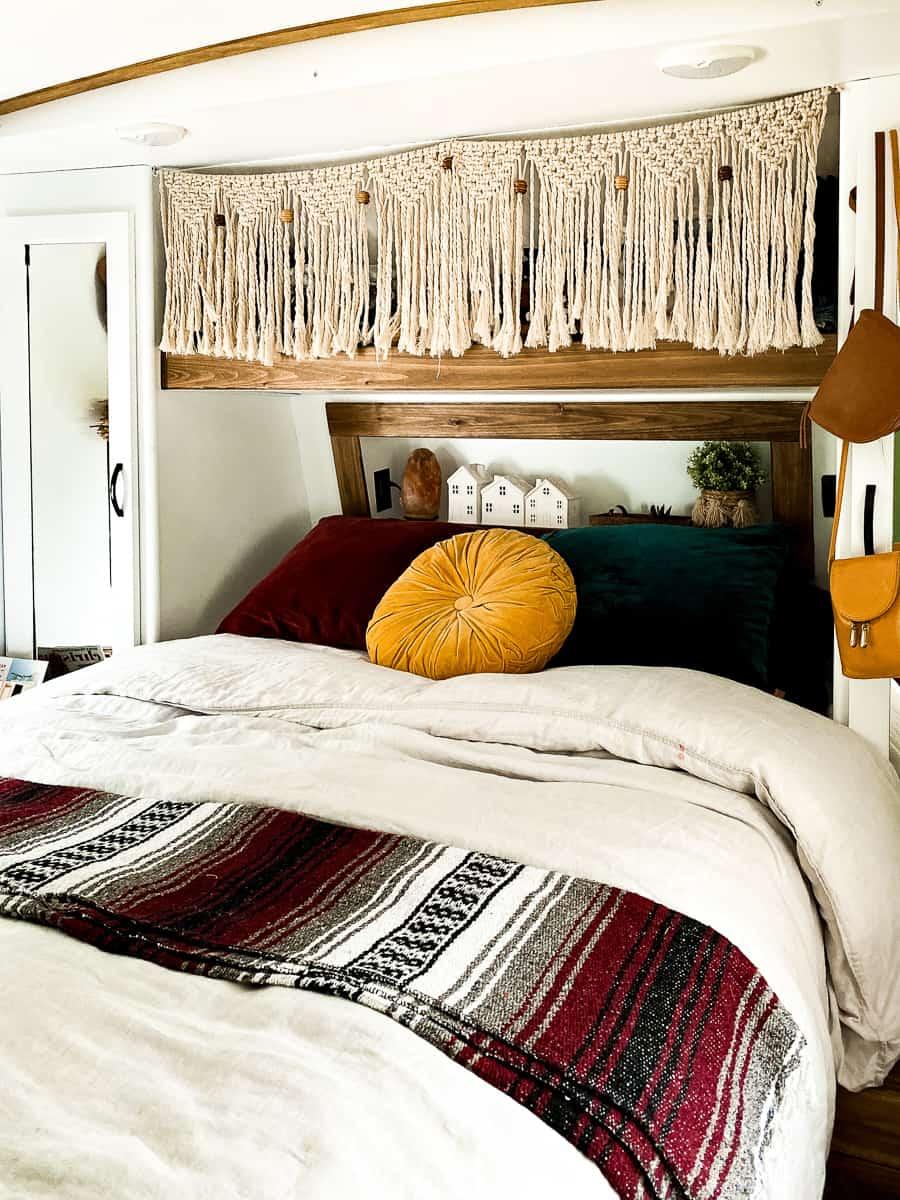 Boho camper bedroom