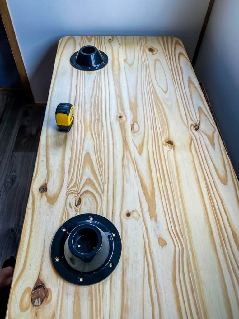 DIY Dining Table for a camper