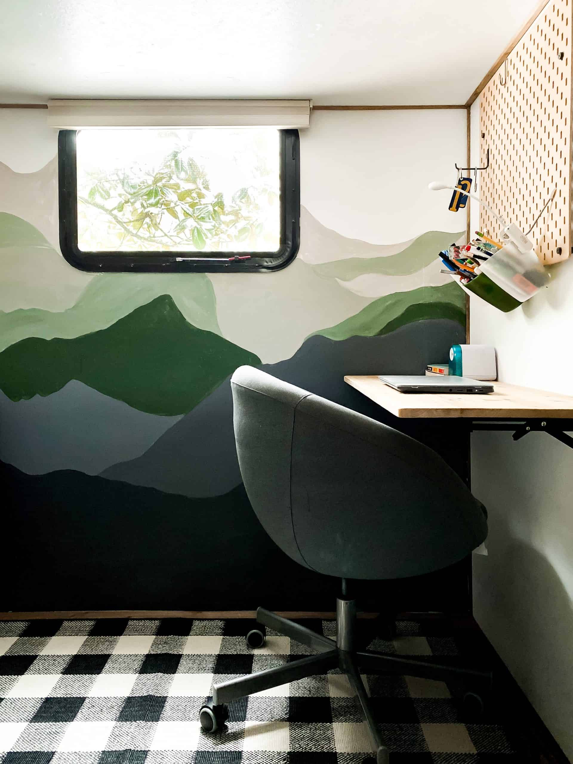 HOW TO PAINT A MOUNTAIN MURAL